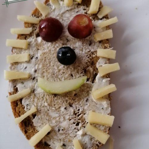Marisa Grobe hat auch diesen Schnee-Igel zubereitet